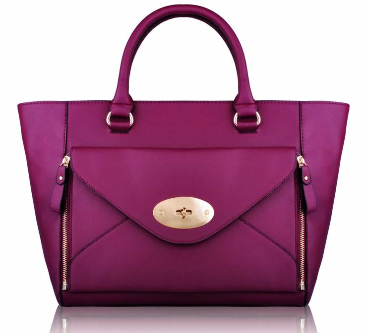 Whole Purple Fashion Tote Handbag