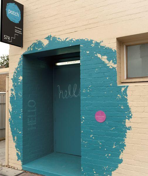 Focal Blue entrance. Making a splash with blue entrance
