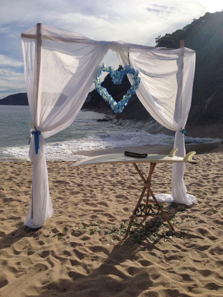 Casamento na praia! Praia da Sununga em Ubatuba - SP, Brazil