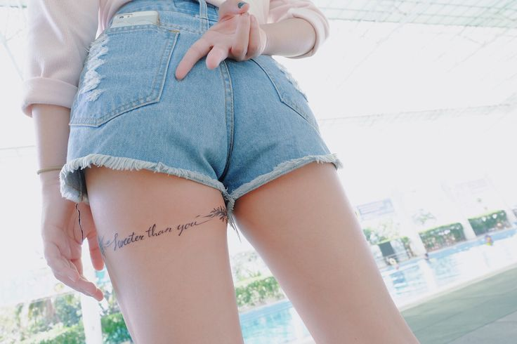 """My second tattoo. Sweeter than you ( my nickname in Thai is Namwhan. It's mean """"Sweet water"""". Everyone usually said """"you're not sweet as your name"""" then i said i'm sweeter than you )"""