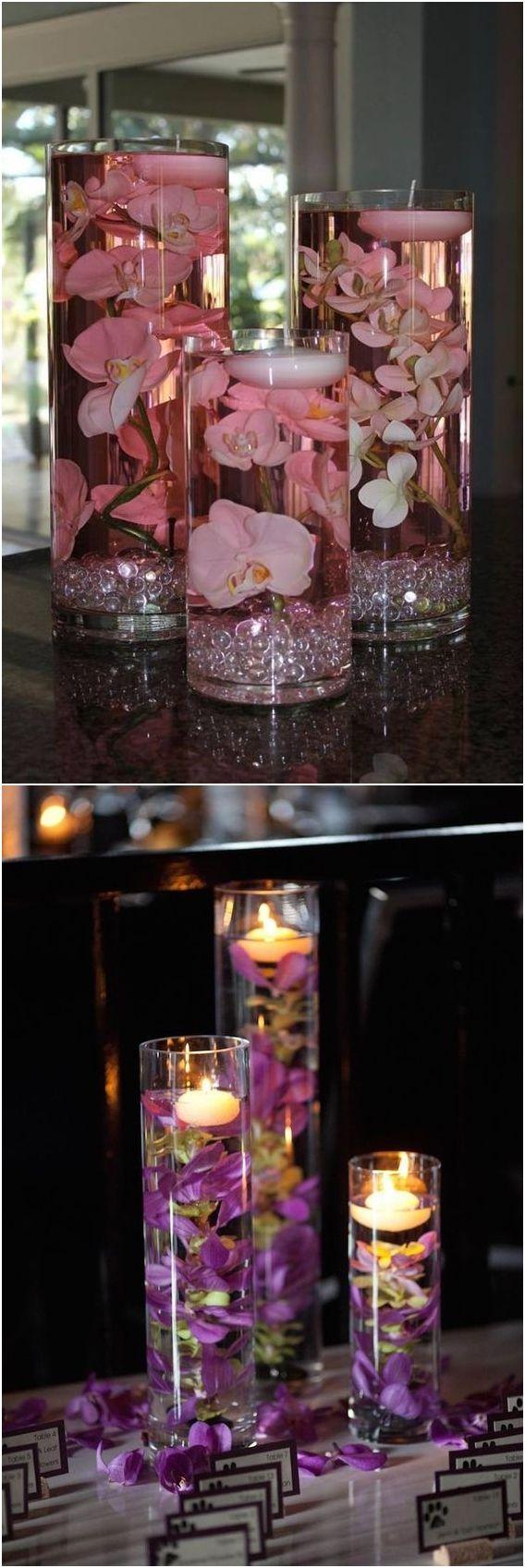 Romantic floating wedding centerpiece ideas #wedding #weddingideas #centerpiece / http://www.deerpearlflowers.com/floating-wedding-centerpieces/