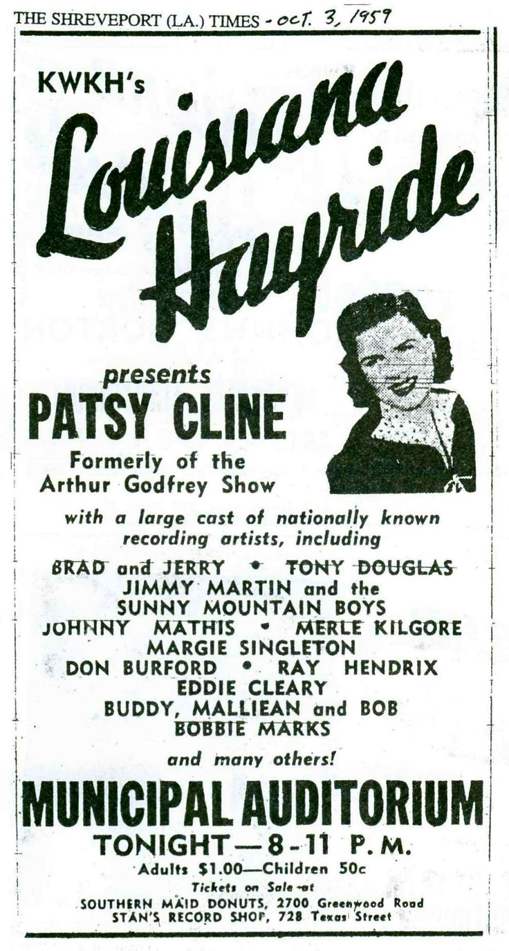 15 best KWKH Louisiana Hayride and related images on Pinterest ...