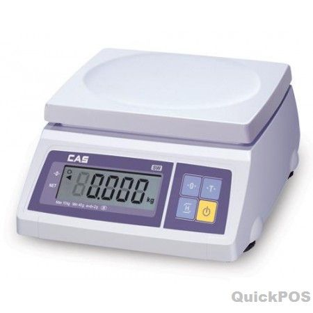 CAS SW-1C Weight Only Scale + Counting 20KG Constructed from durable ABS plastic; designed to withstand most commercial applications. Dual-power scales operation makes the SW-1C ideal for market stalls and retail counter use Large, easy-to-read-POS equipment