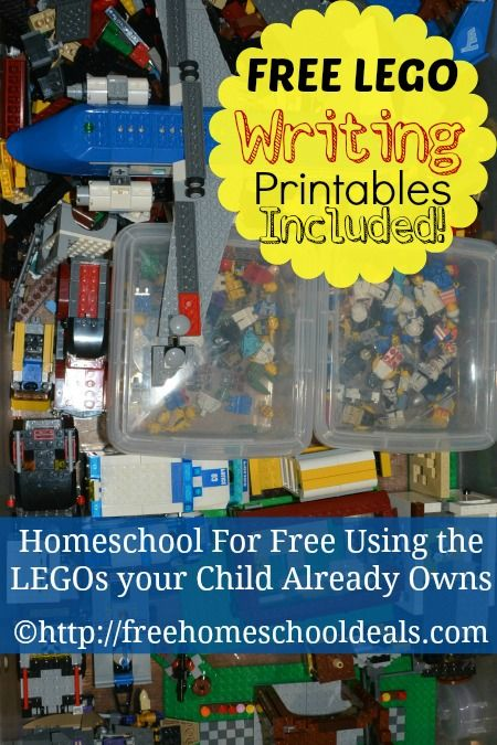 Homeschool for Free Using the LEGOs your Child Already Owns + FREE LEGO Writing Printables!