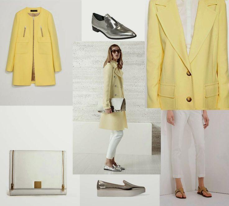 A la izquierda, abrigo de Zara y bolso de Ted Baker, a la derecha abrigo de Asos y pantalón blanco de Zara, slippers arriba de Gloria Ortiz y abajo de Trf.  #Gucci #inspiration http://cuchurutu.blogspot.com.es/2014/06/gucci-inspiration.html