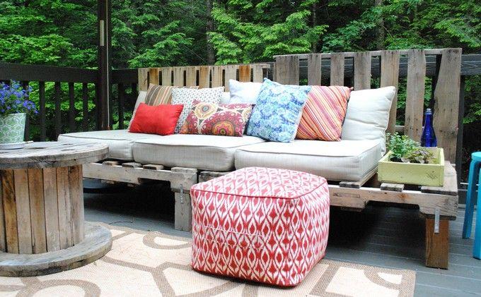 pallet patio furniture cushions garden outdoor ideas pinterest