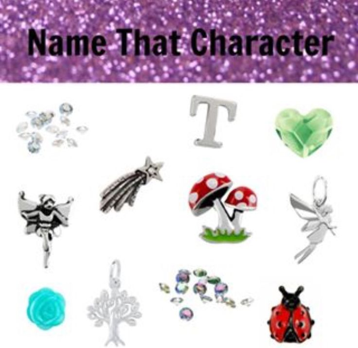 Origami Owl Name the Disney Character- Tinkerbell                                                                                                                                                     More