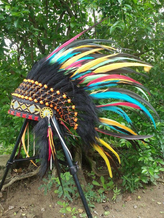 PRICE REDUCED Indian Headdress for kid/child by TheLandOfCockaigne