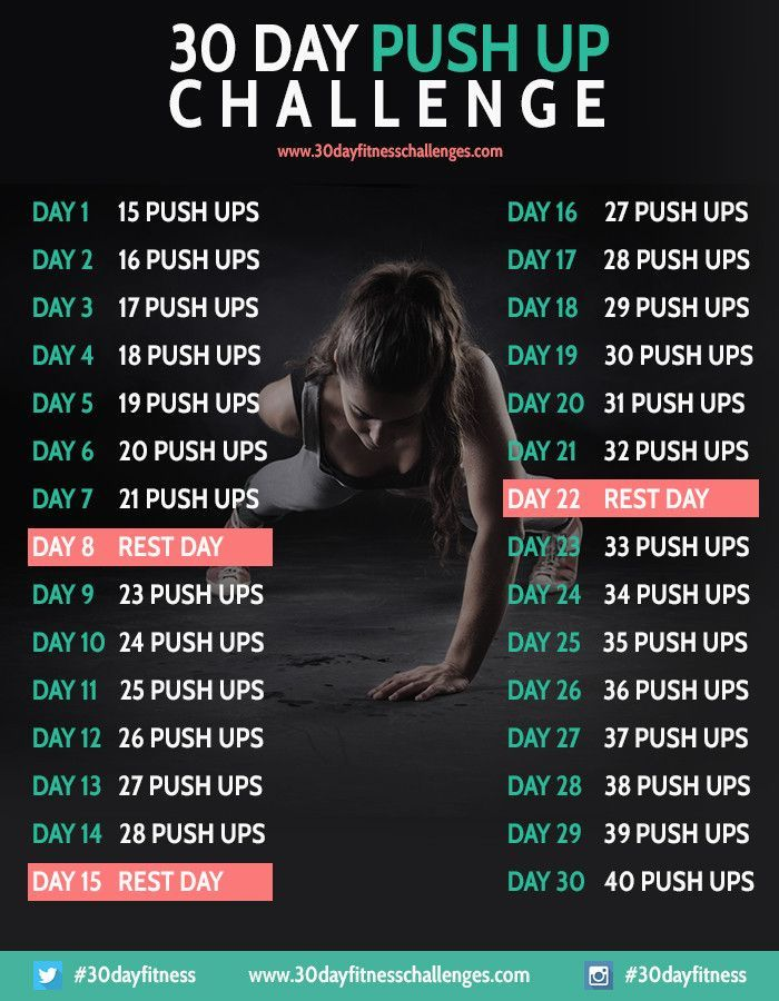 30 Day ADVANCE PUSH UP Challenge | Fitness Challenges ...