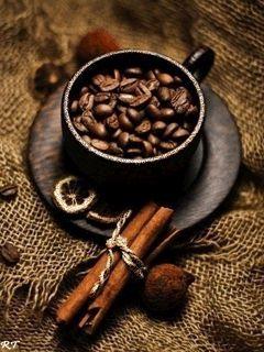 Кофе в зернах - анимация на телефон №1243933