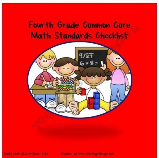 Fourth Grade Common Core Math Standards Checklist product from Scotts-Scoop on TeachersNotebook.com