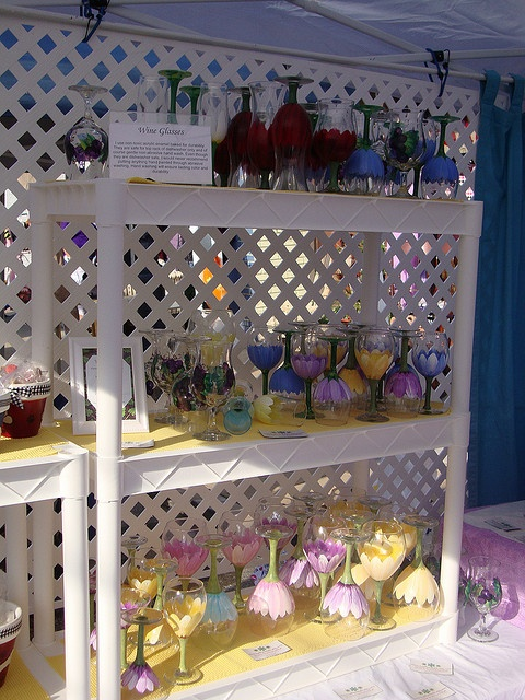 Wine Glass Display By Judipaintedit Via Flickr Craft