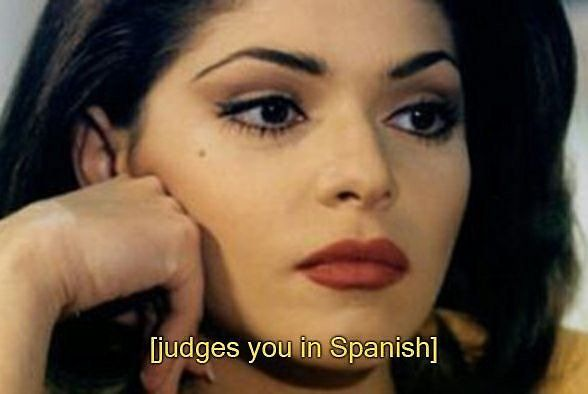 Judges You In Spanish Sticker By Angela Brown Reactions Meme Stupid Memes Reaction Pictures