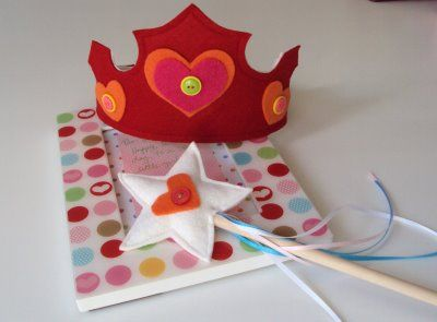 Make your own Princess/Birthday crown.  I have used this tutorial, and it turned out great.