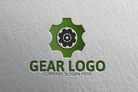 Gear Logo by Josuf Media on @creativemarket