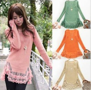 Ladies Round Neck Long Sleeve Sweater Free Shipping: Long Sleeve Sweater