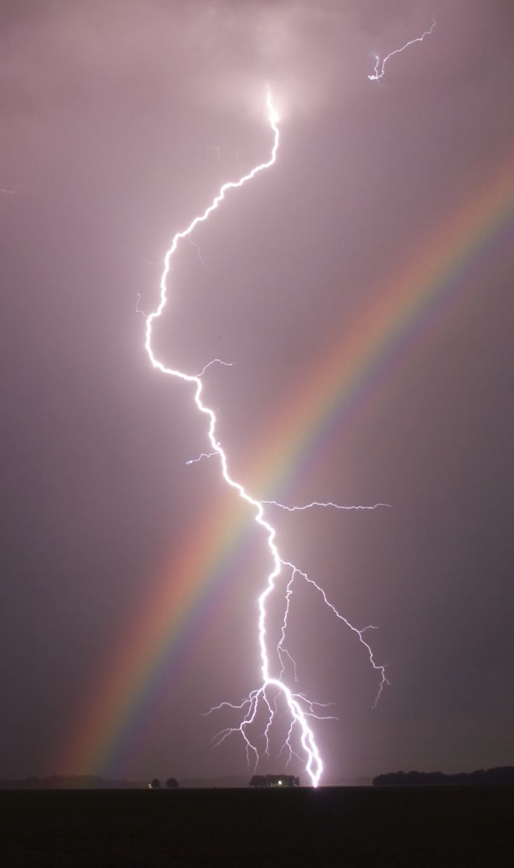forces of nature.. lightening and rainbow..