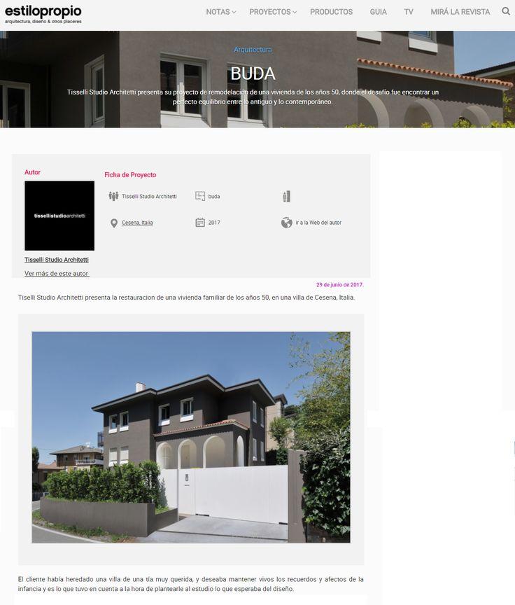 #tissellistudio single family villa in Cesena, published by Revista Estilo Propio