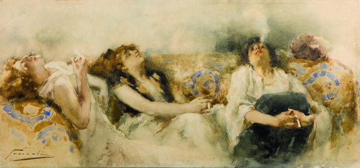 Gaetano Previati - 'Le fumatrici di hashish' (1887)