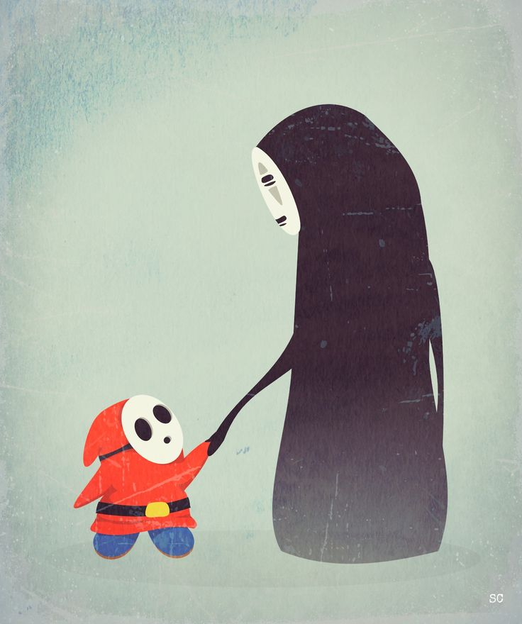 Shy Guy meets No Face by Sarah Carr.