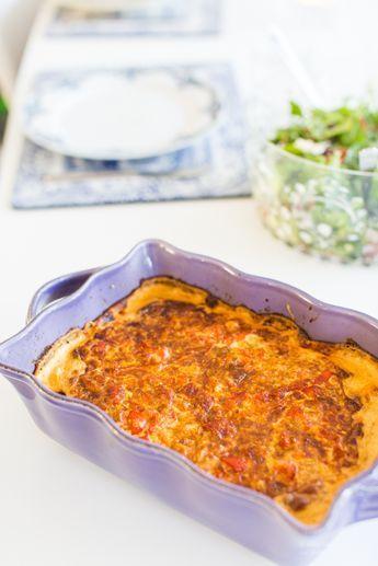 LCHF - Low Carb, Tacogratäng med ostsås