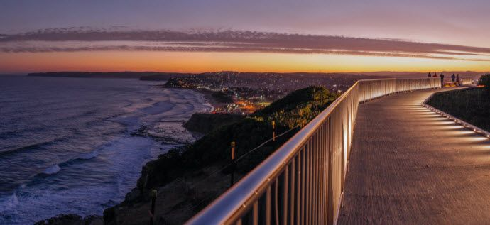 ANZAC Memorial Bridge - Newcastle's coastal walk