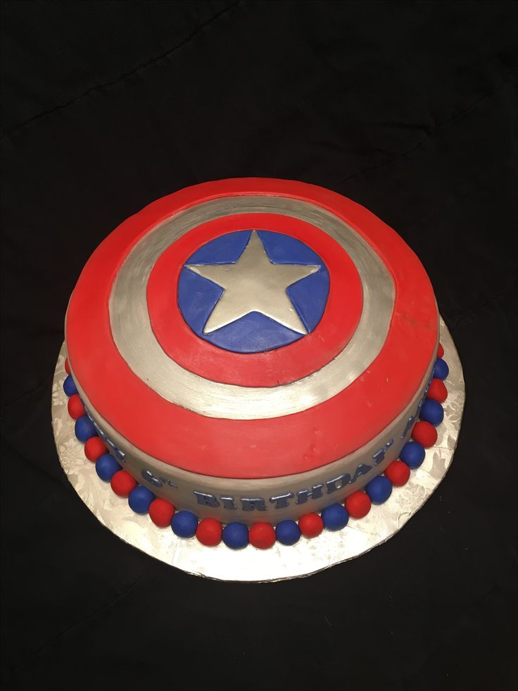 1000 Ideas About Captain America Cake On Pinterest