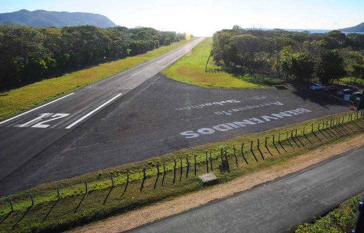 Playa Tambor airport at 7am. Costa Rica