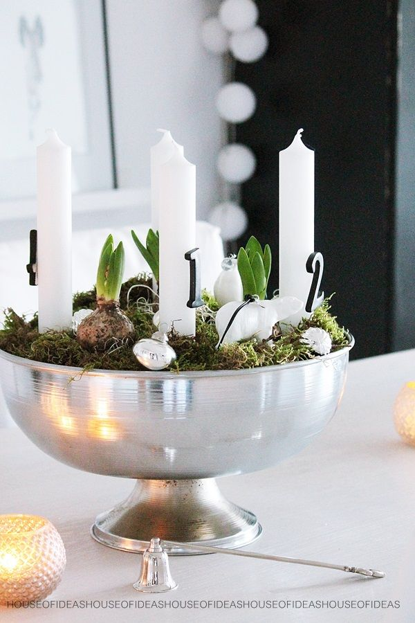 17 beste idee n over silber deko op pinterest strau enei for Pinterest adventskranz