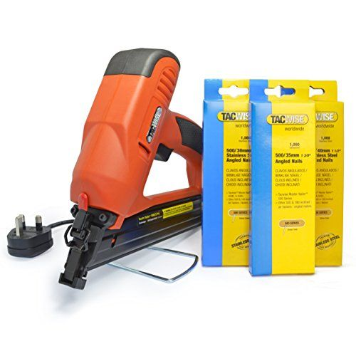 Tacwise 1286 Tacwise 400ELS Angled Electric Nail Gun and Stainless Steel Nail Bundle Kit No description (Barcode EAN = 5051439004072). http://www.comparestoreprices.co.uk/december-2016-6/tacwise-1286-tacwise-400els-angled-electric-nail-gun-and-stainless-steel-nail-bundle-kit.asp