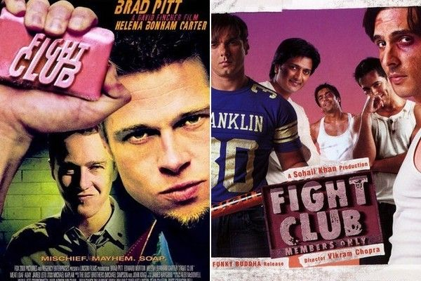 Foreign Movies That Ripped Off American Films - The Bollywood film claims it isn't a remake of the 1999 American film starring Brad Pitt. However, looking at the two movie posters side-by-side, we'd beg to differ.