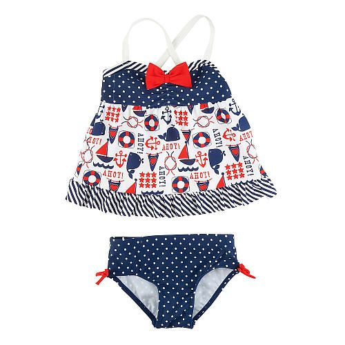 Koala Baby Girls 2 Piece Navy White Nautical Tankini Swimsuit Babies R Us Babies Quot R Quot Us 4th Of July Pinterest Girls Babies And Swimsuits