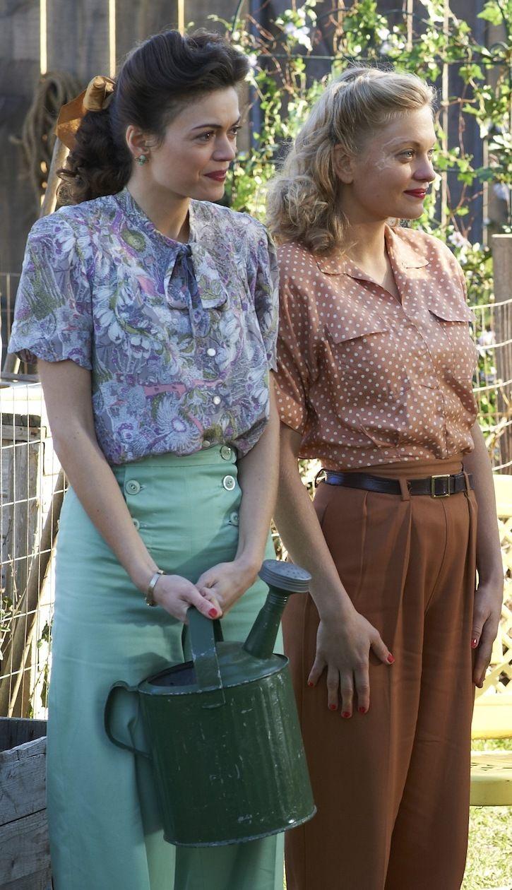Bomb Girls...Carol and Vera, tending the Victory Garden.:)
