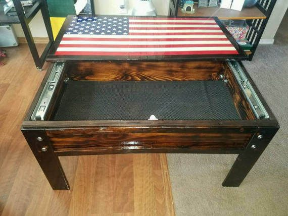 Concealed Weapon Coffee Table Diy Coffee Table Plans Diy Coffee Table Coffee Table Plans