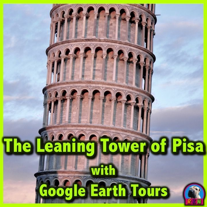 Tour The Leaning Tower of Pisa and Cathedral Square with Google Earth Tours  Make a virtual field trip to the Leaning Tower of Pisa, one of the world�s most famous landmarks. You will be using Google Earth to watch a pre-recorded tour of the famous tower located in the Square of Miracles. by Nygren Resources RKN (photo by davide ragusa @ https://unsplash.com/photos/1PHDS-PFtcM