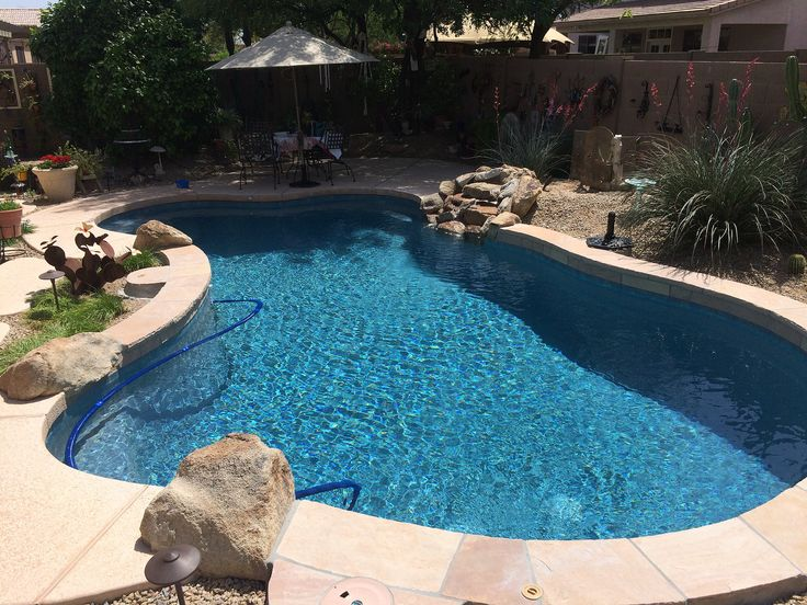 Swimming Pool Service & Repair, Phoenix, AZ Before and After Pool Remodeling Photo Gallery of Pebble Tec, Replastering, Remodels, Splash Pads, Pool Restoration