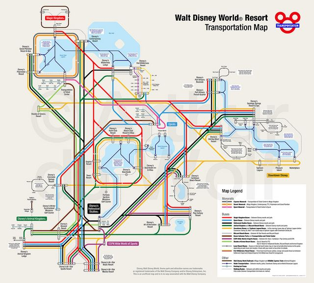 Walt Disney World Resort Map in 2019 | Disney World Vacation ... on