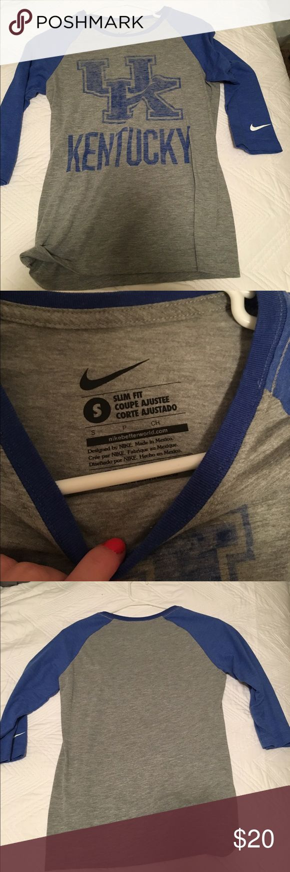 UK baseball tee Nike baseball tee university of KY Nike Tops Tees - Long Sleeve