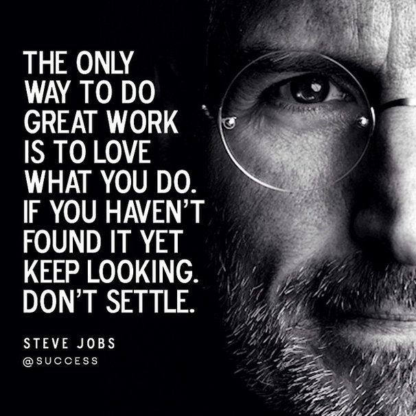 My all time favourite quote by Steve Jobs.