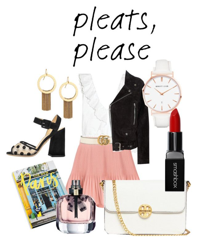 """""""pleats please! ☺"""" by annabalint16 on Polyvore featuring Vanessa Bruno, Gucci, Abrams, Tory Burch, Acne Studios, Charlotte Olympia, Abbott Lyon, Smashbox, Stephanie Kantis and paris"""