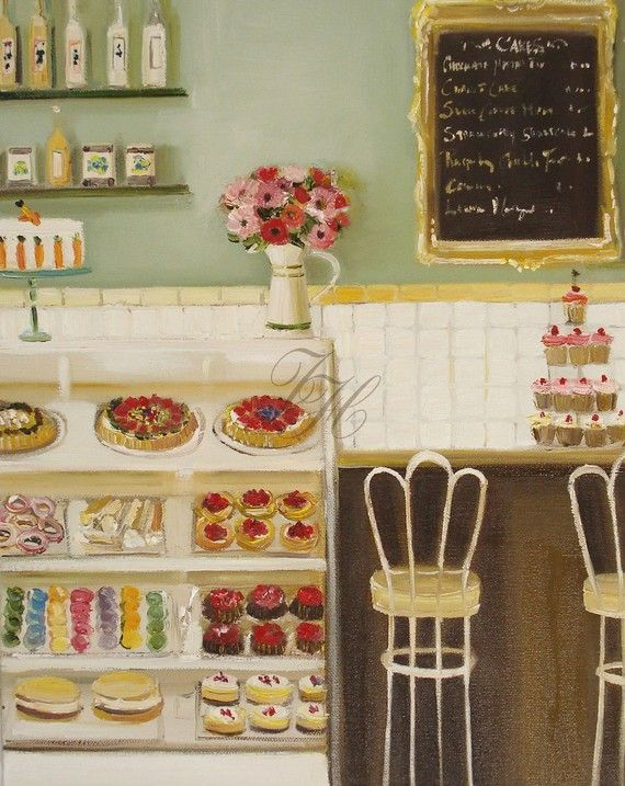 The Italian Bakery, open edition print by janethillstudio on Etsy, Stratford, Canada. $26.00