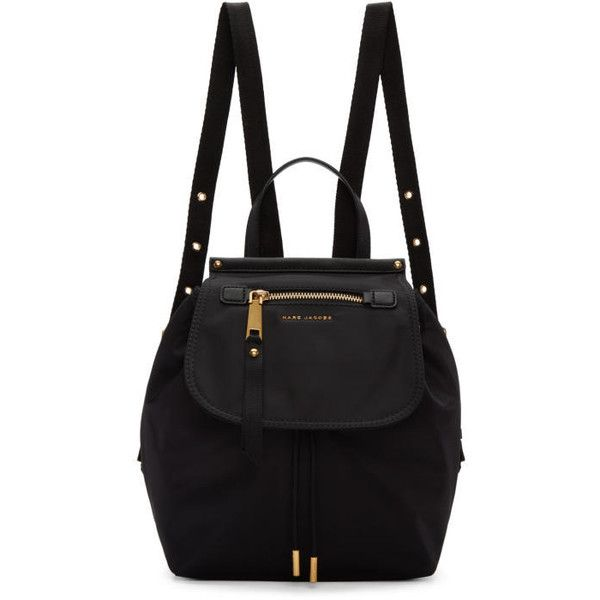Marc Jacobs Black Trooper Backpack ($275) ❤ liked on Polyvore featuring bags, backpacks, black, hardware bag, draw string backpack, day pack backpack, drawstring knapsack and marc jacobs backpack