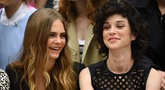 Cara and St Vincent are too cute for words! Did you see their PDA @burberry