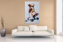 Interior :: Obraz olejny dekoracyjny Skate Dog PopArt 80x120cm (Z30087)