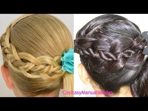 peinados para ninastrenza de cuatro con torcidos peinados faciles youtube