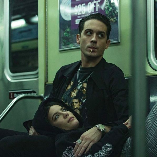 "G-eazy and Halsey in ""Him and I"""