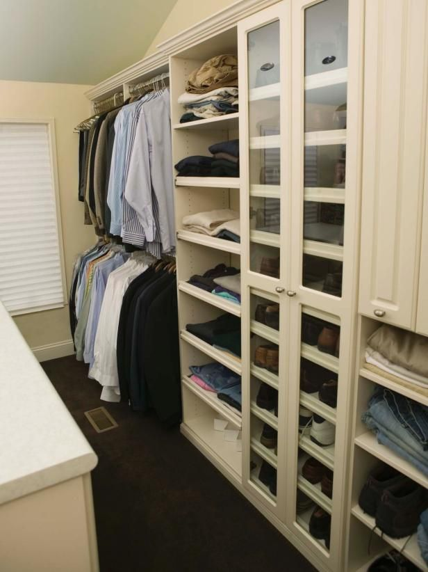 Experts at HGTV.com share tips for organizing and decluttering your closet once and for all.
