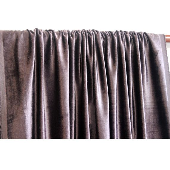 Dark Purple Grey Velvet Curtain 52x84 Rod Pocket by FabricMart, $99.00