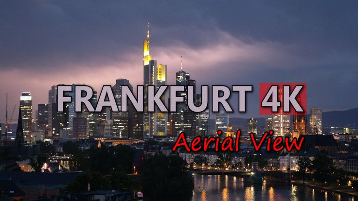 Ultra HD 4K Frankfurt Germany Aerial View Travel Sightseeing Day Night Shots UHD Video Stock Footage