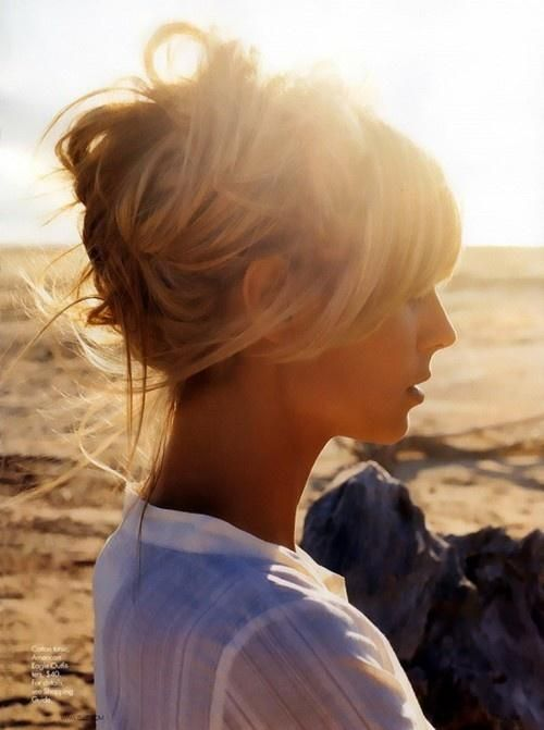 updo= lailie on beach waiting for her photoshoot for a music video